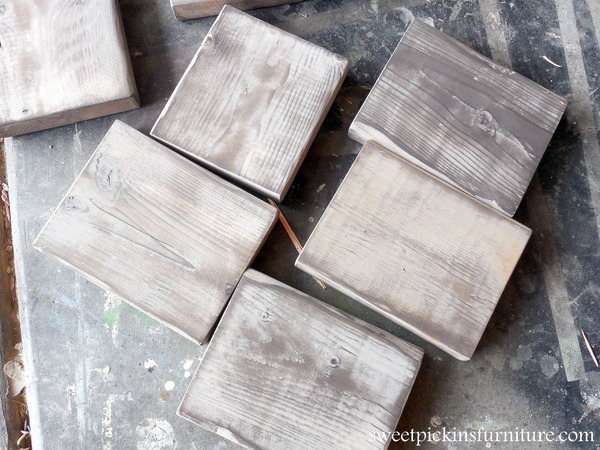 Sweet Pickins - Aging new wood with milk paint and vinegar solution
