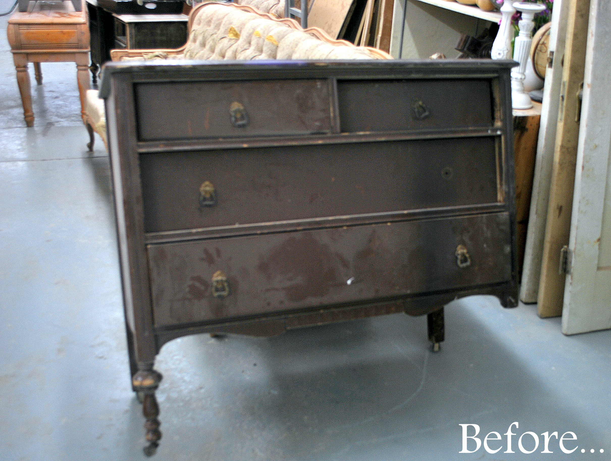 before after small dresser sweet pickins furniture