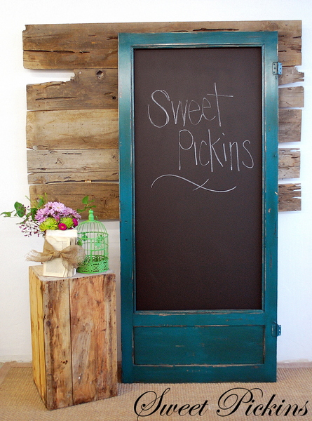 Old Door Chalkboard Sweet Pickins Furniture