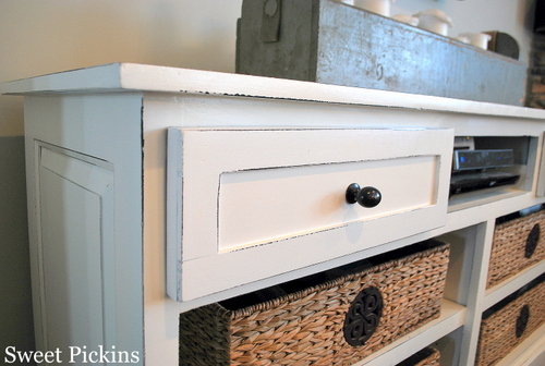 Office Cabinet to TV Console} – before & after | DIY