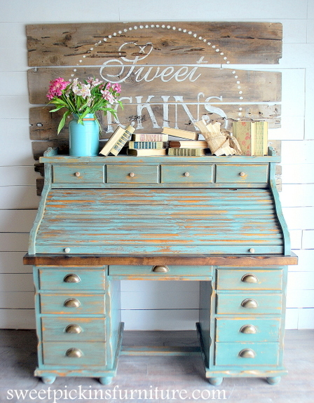 Sweet Pickins Furniture - Sea Green Milk Paint