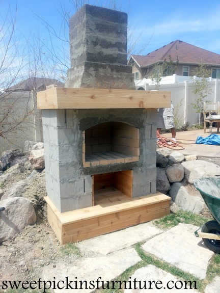 Backyard Fireplace Part 2 Sweet Pickins Furniture