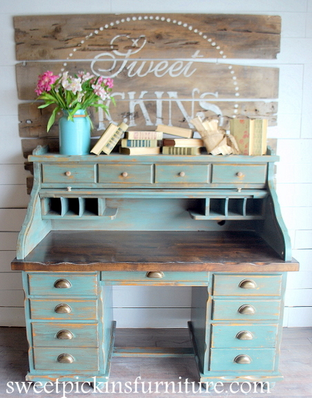 Before Amp After Milk Paint Roll Top Sweet Pickins