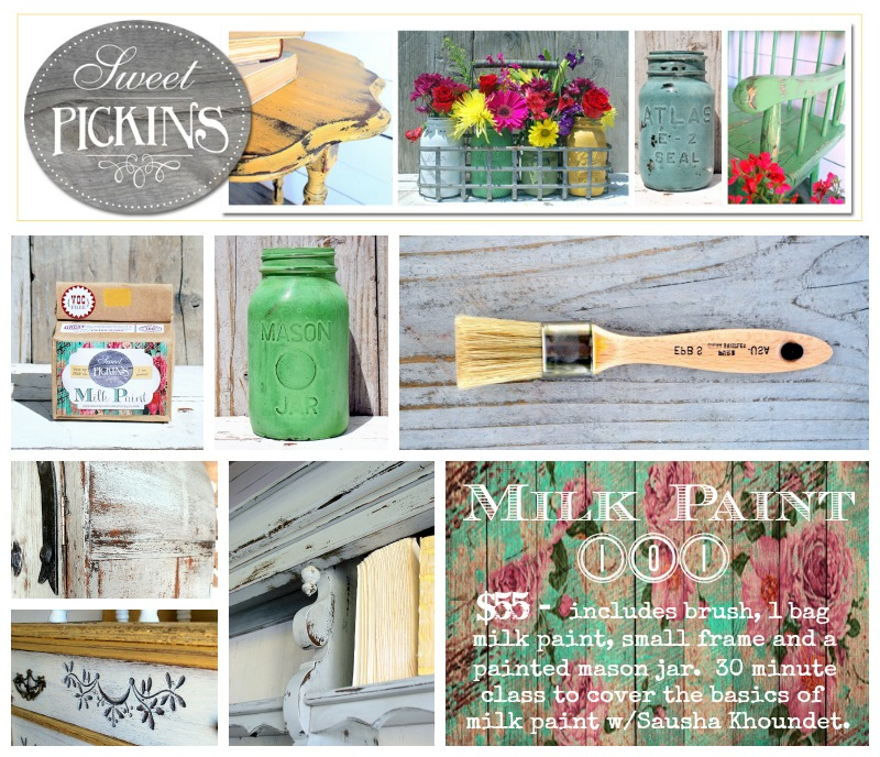 Sweet Pickins Milk paint Class