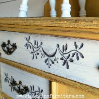 Sweet Pickins Milk Paint - Marigold and Light Cream 3