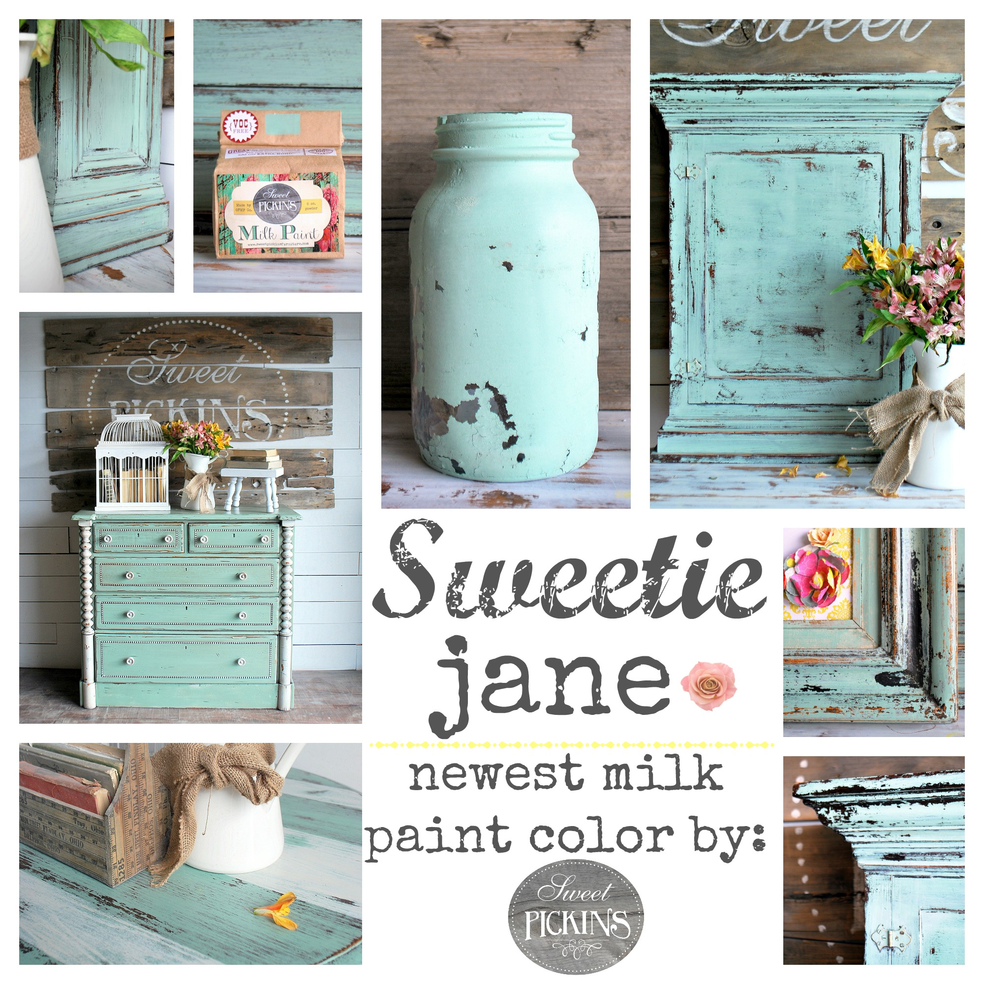 3 new sweet pickins milk paint colors are here sweet pickins galvanized is a medium true gray color i love this color especially with a dark wax over it sweet pickins milk paint nvjuhfo Choice Image