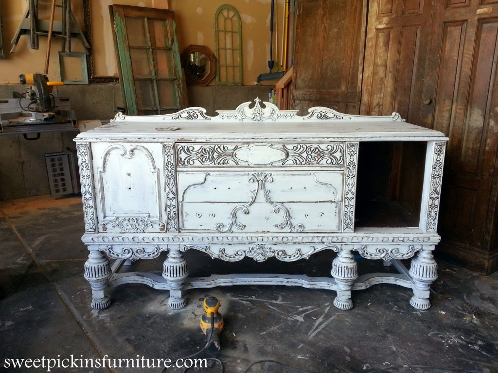 Sweet Pickins Milk Paint - painted antique buffet