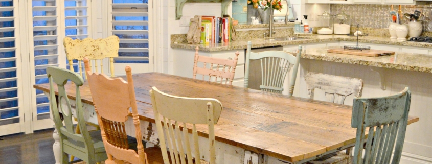 My New Farm Style Table W Mismatched Chairs Milkpaint